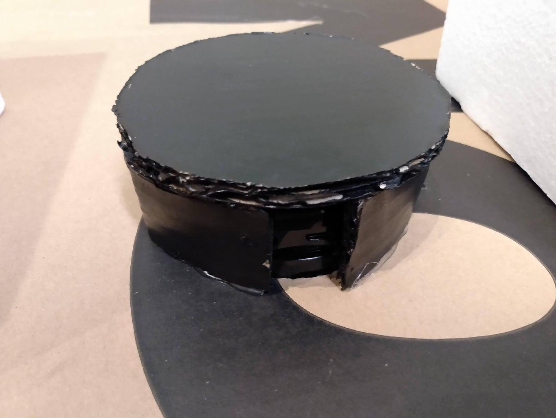 Paint the Cardboard Black