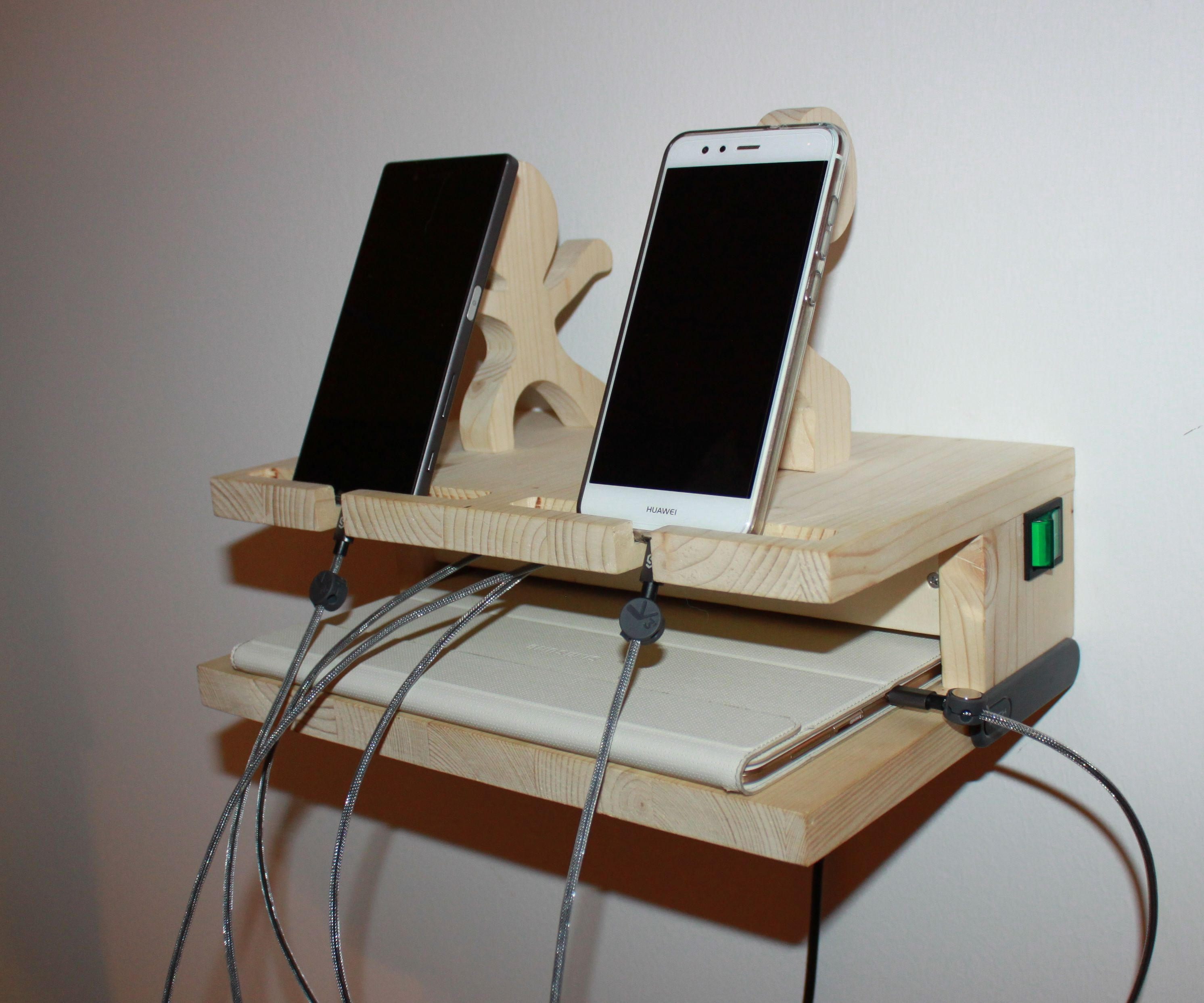 Cell Phone Stand With Integrated Charger