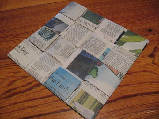 Newspaper Sit-upon