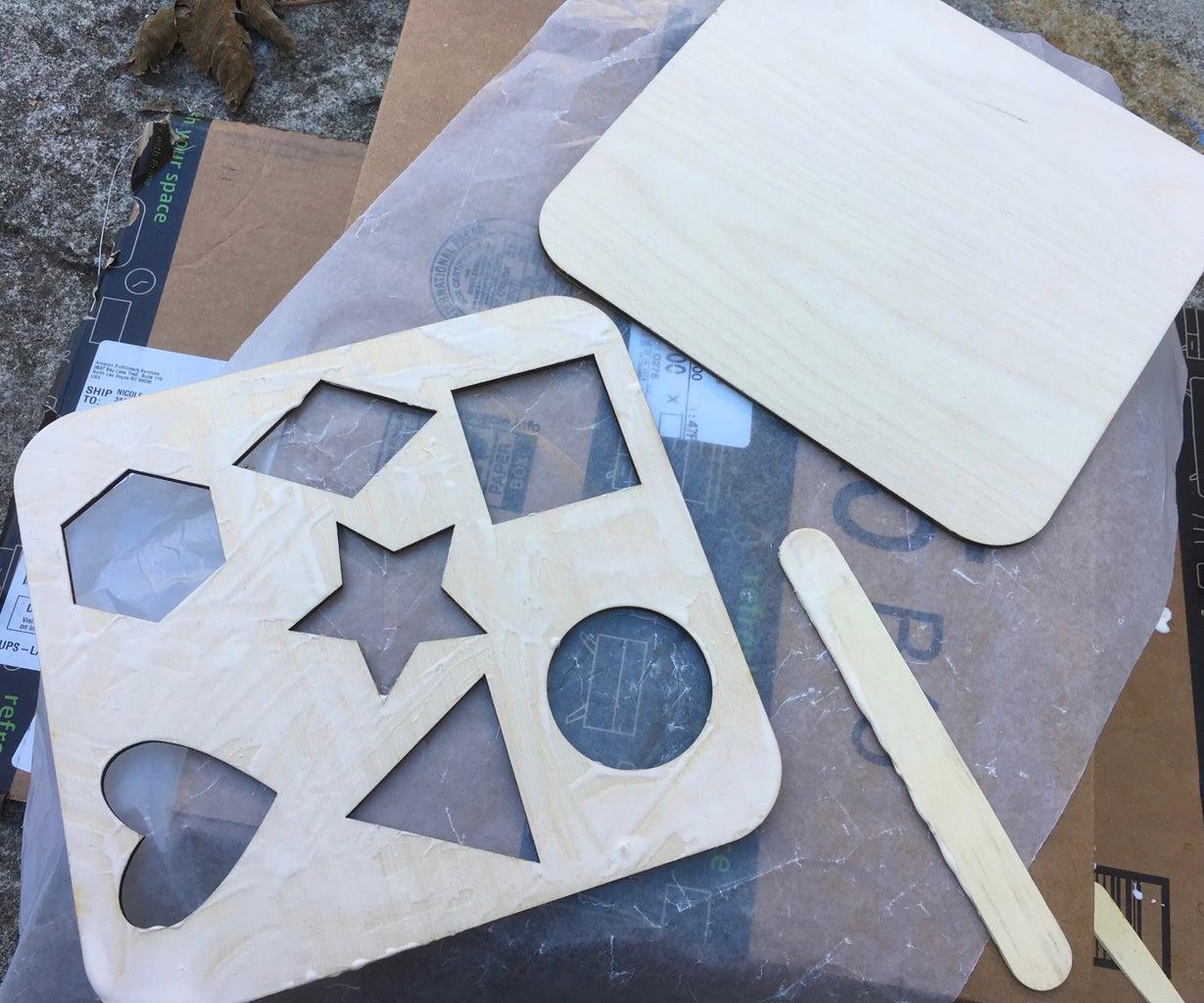 Gluing (+ More Sanding)