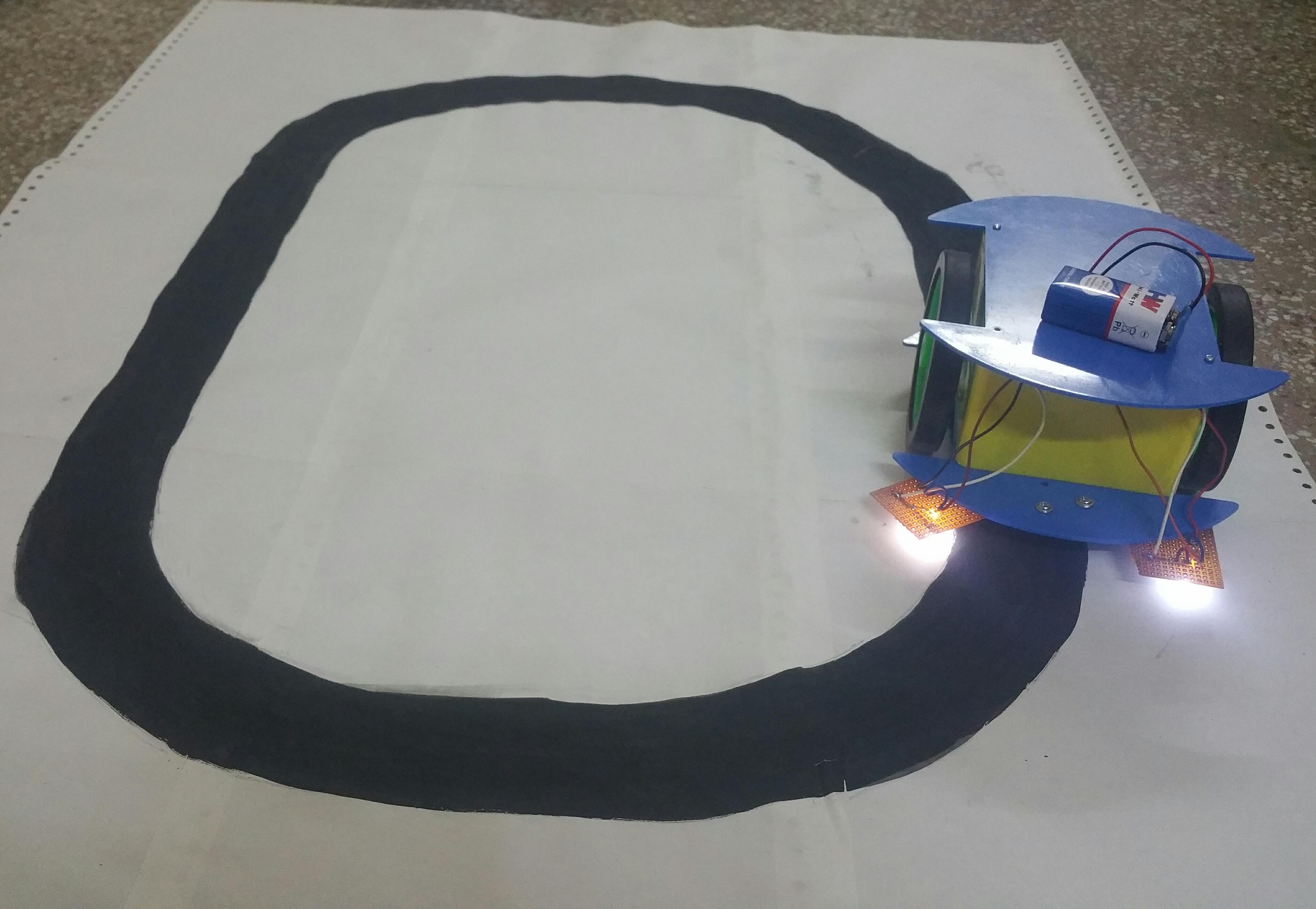 Black Line Following Bot