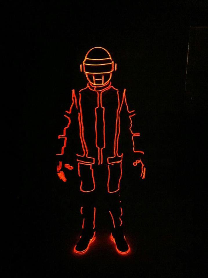 Tron. daft punk el wire suit!
