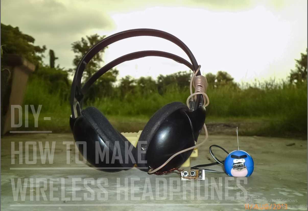 DIY- HOW TO MAKE WIRELESS HEADPHONES