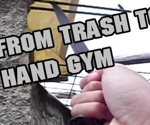 From Trash to Hand Gym