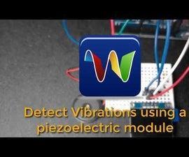 Detect Vibrations Using a Piezoelectric Shock Tap Sensor Module