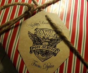 Harry Potter Owl Post Gift Tag