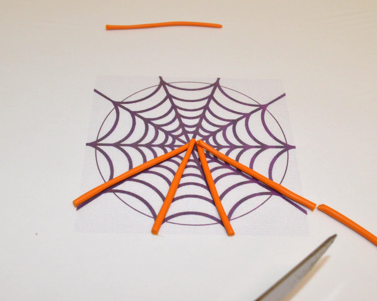 Sculpt a Spiderweb for the Back of the Jack O'lantern