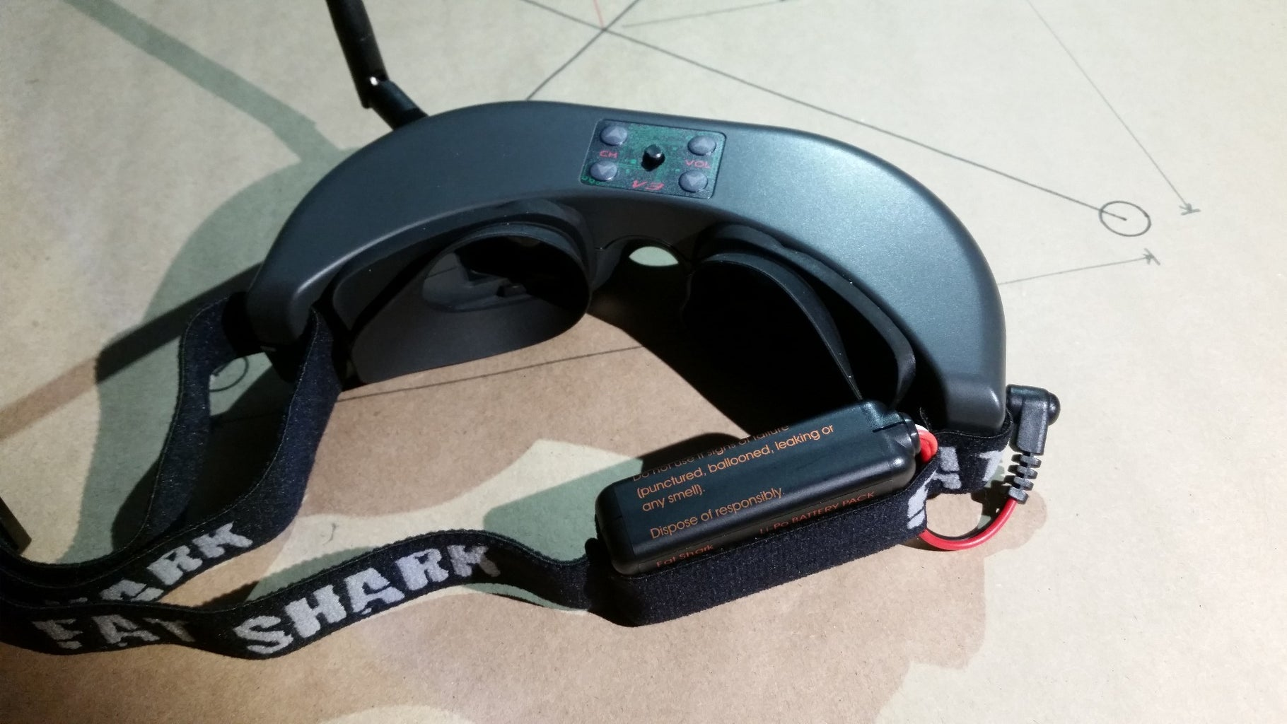 Attach Battery and Antenna to Fat Shark Goggles