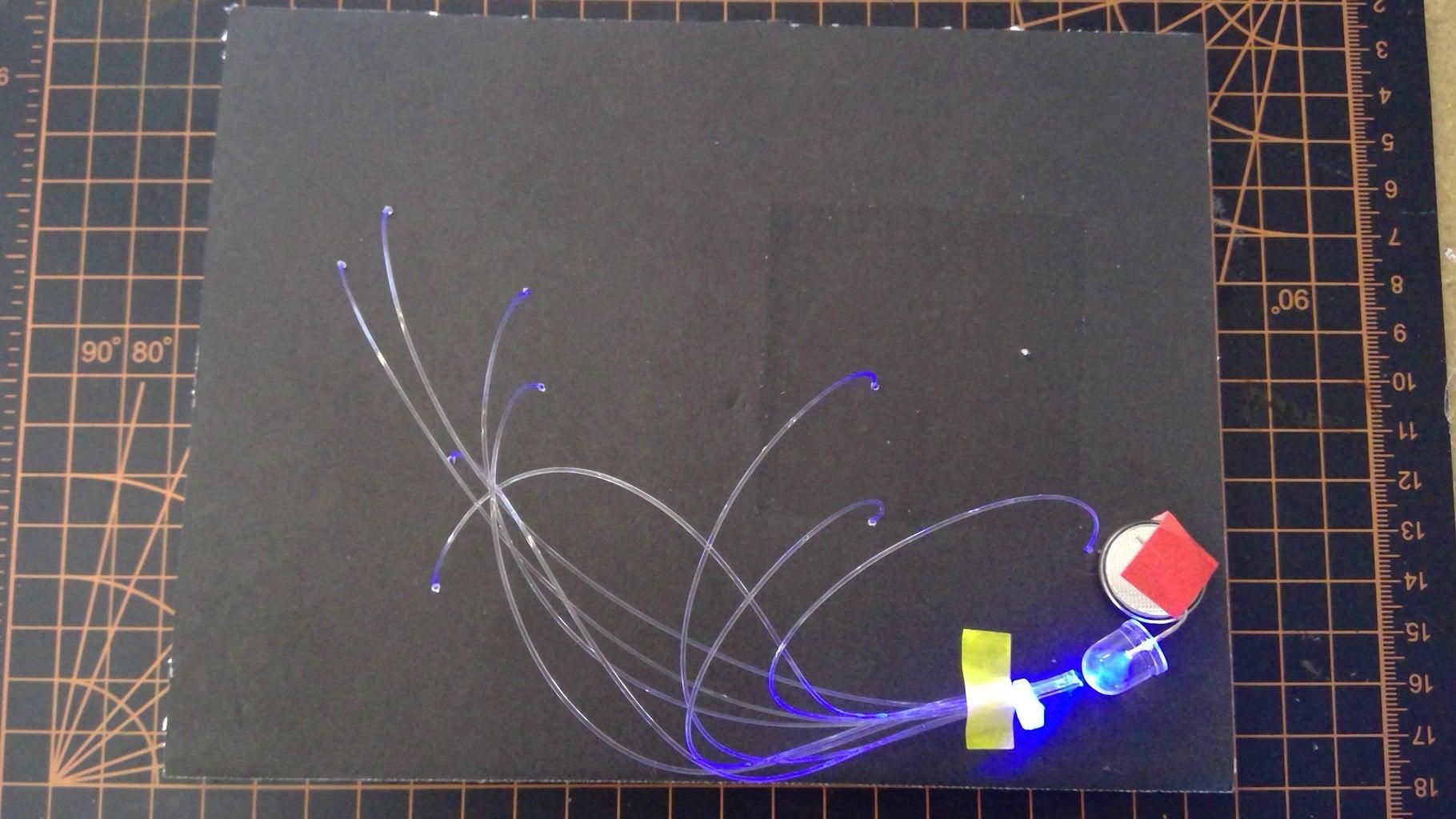Insert the Fiber Optic Cables & LED
