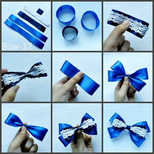 4 Ribbons Hair Bows