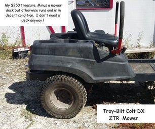 Tracked ZTR Vehicle From Mower Chassis
