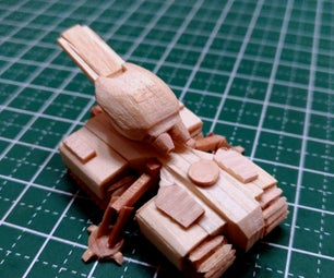 Starcraft 1 Terran Siege Tank Mini Popsicle Stick Model
