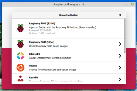 Install Image on the MicroSD With Rpi-imager