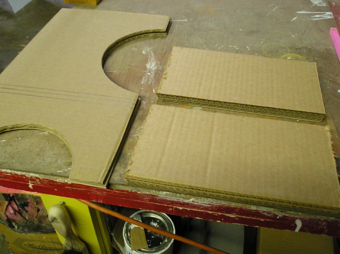 Design Is Transferred to Cardboard