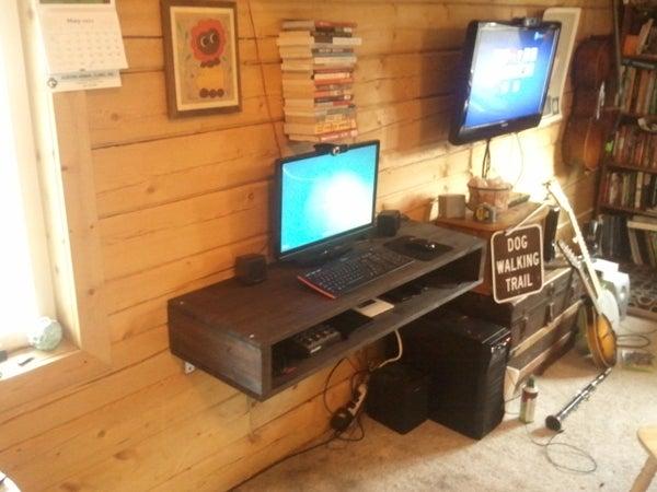 Floating Storage Desk