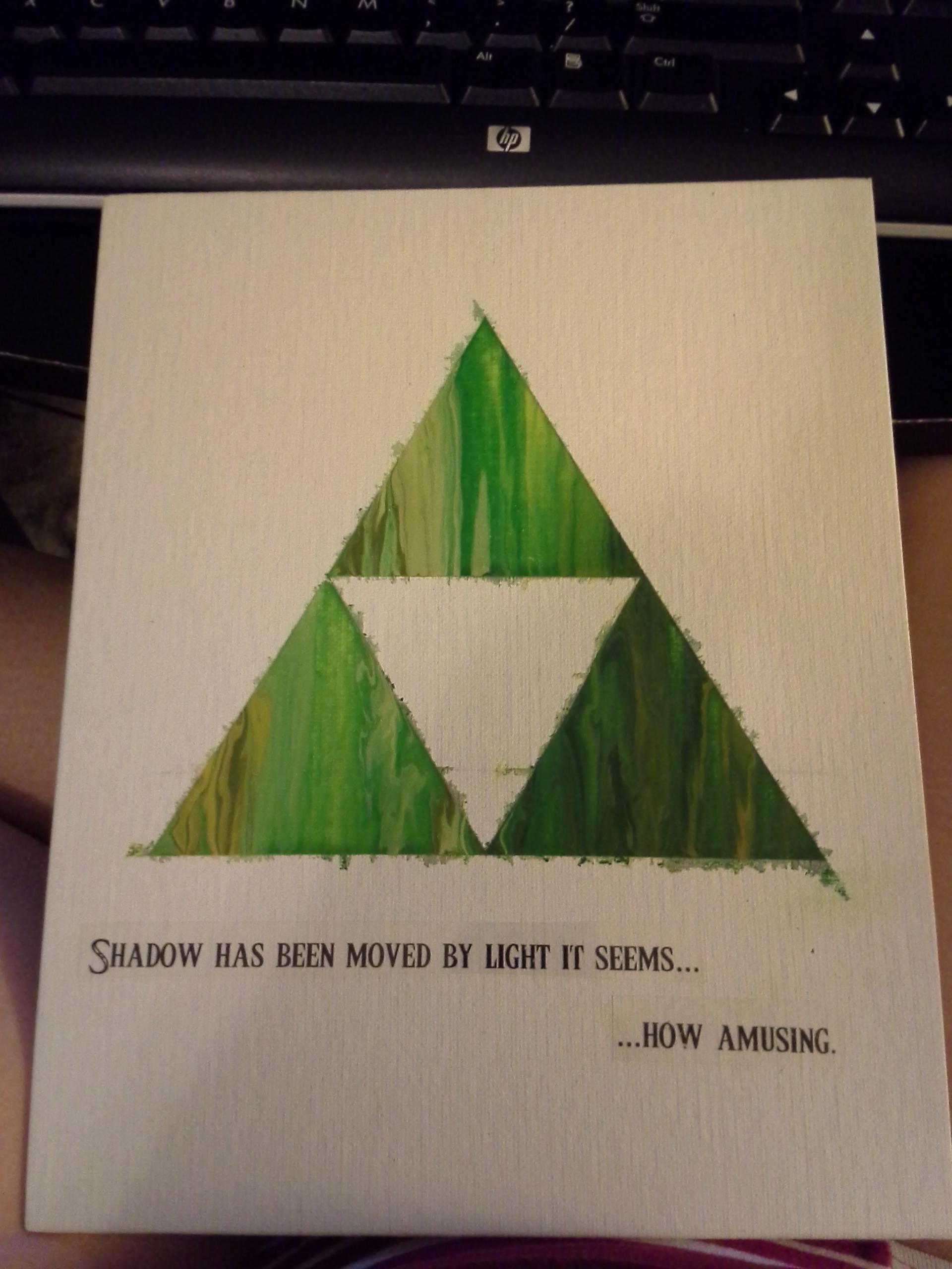 The Legend of Zelda Melted Crayon Art - Triforce
