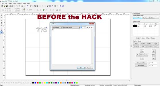 Hacking LaserCAD