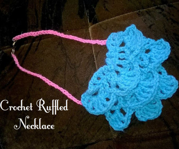 Ruffled Layer Crochet Necklace