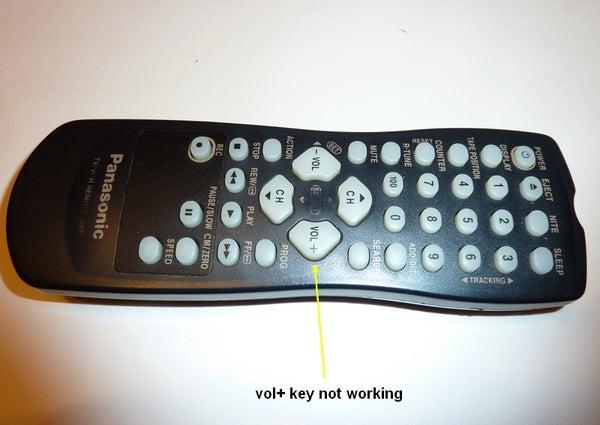 Repair Non-working Tv Remote Key