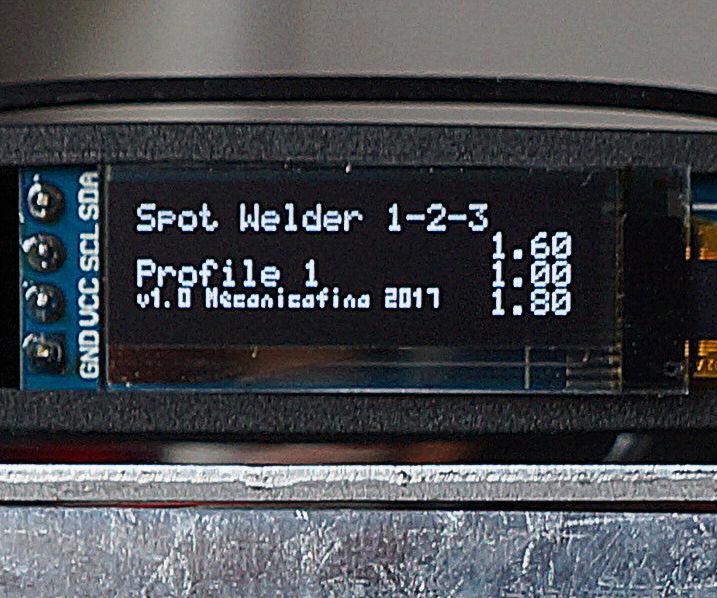 Spot Welder 1-2-3 Arduino Firmware