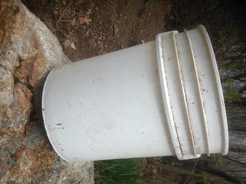 Super Simple Chicken Waterer - Step #1 - Prepare the Bucket
