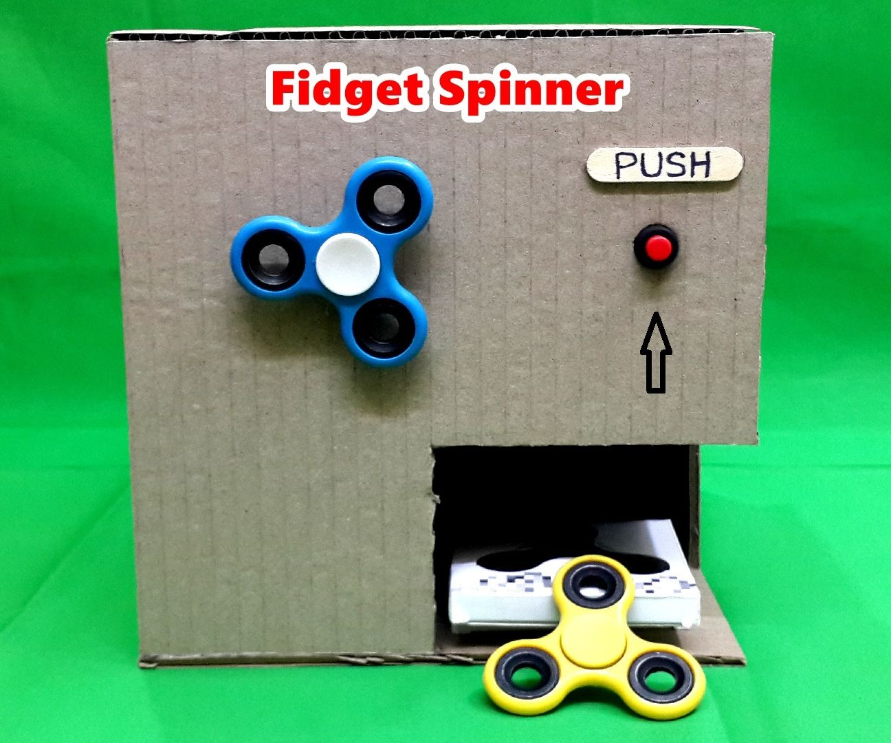 How to Make an Electric Fidget Spinner Vending Machine - DIY