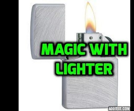 How to Do Awesome Magic Trick With a Lighter