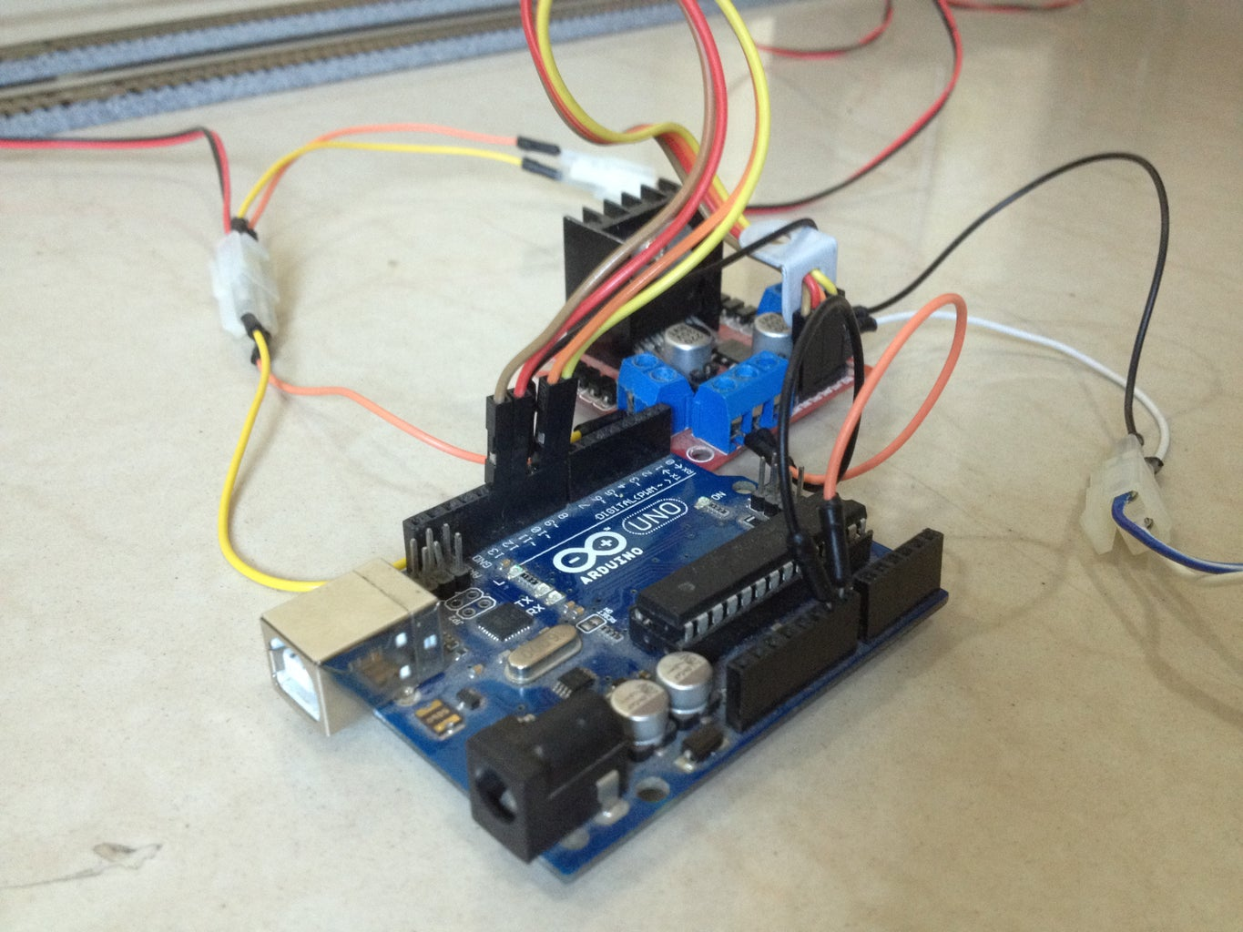 Connect the Motor Driver to the Arduino Board