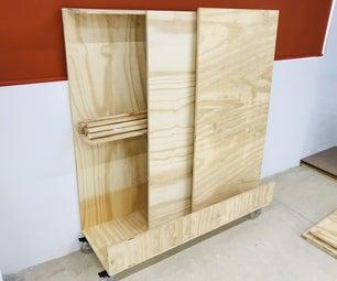 Wood Storage Cart / Carrito Organizador Madera