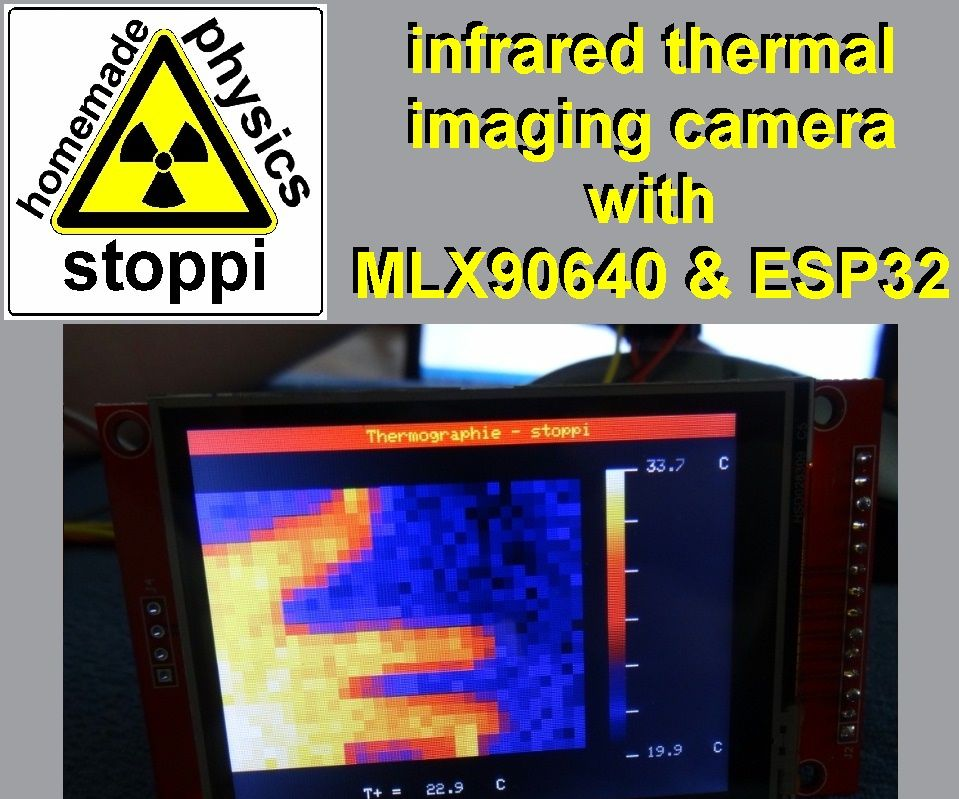 Infrared Thermal Imaging Camera With MLX90640 and ESP32