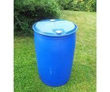 blue barrel chair
