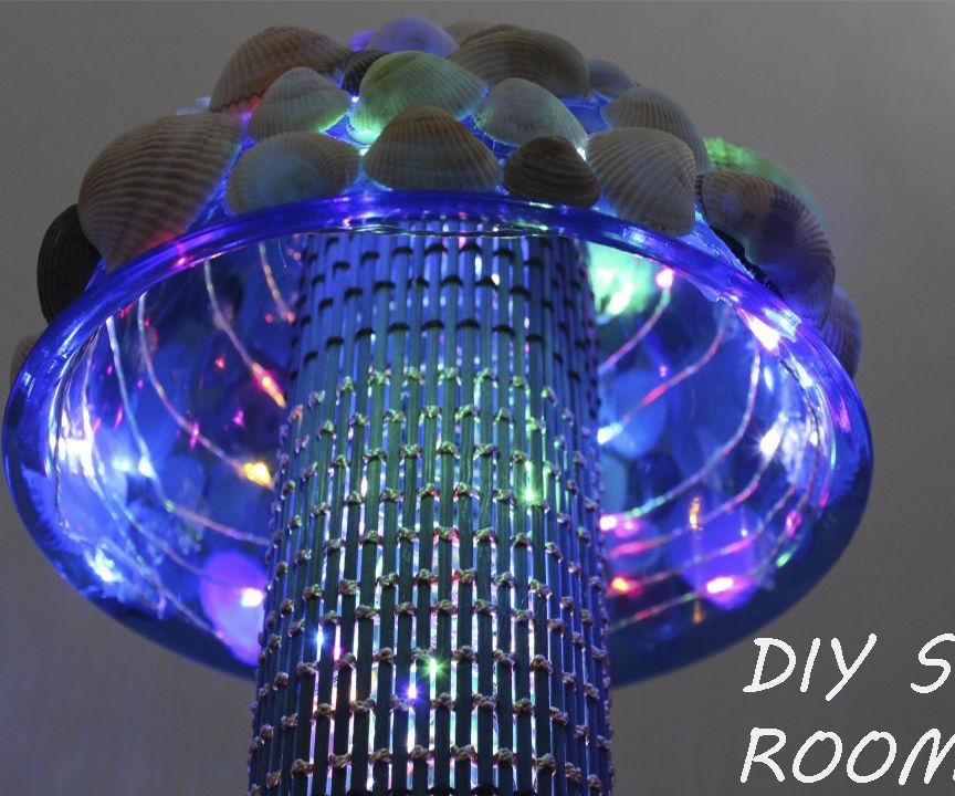 DIY Summer Room Decor / DIY: Easy to Make a Seashell Lamp