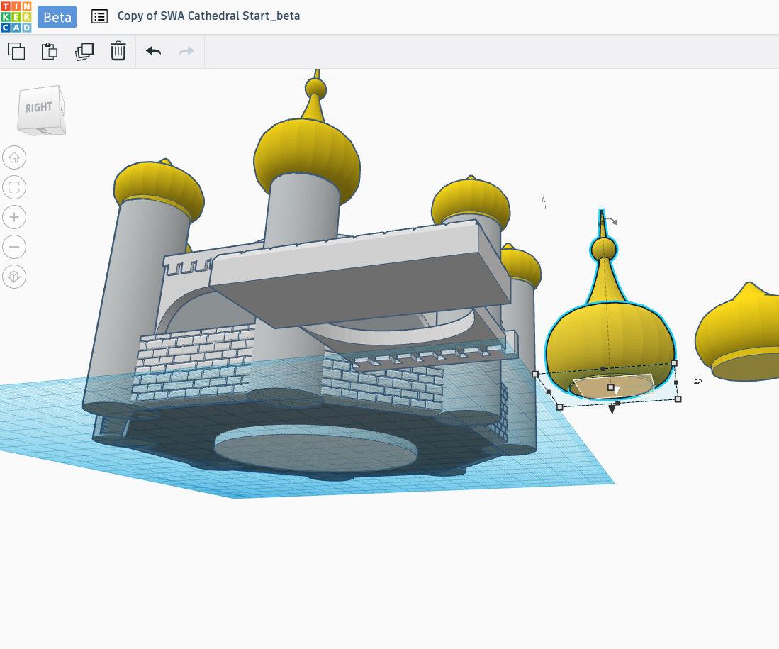 Temple: Adding Main Dome