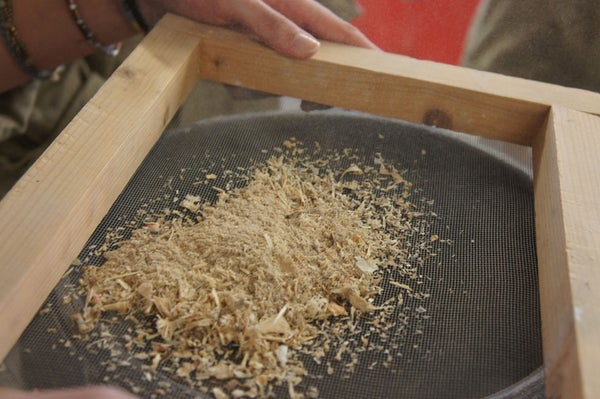 Collect and Sieve the Sawdust
