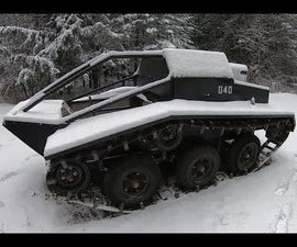How to Build a Full-sized All-Terrain Tracked Vehicle From Junk (the Ultimate Bug-out Vehicle)