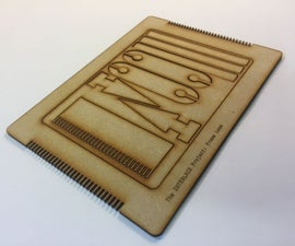 Laser Cut Mini Frame Loom Weaving