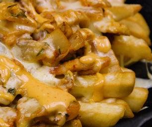 如何烹饪泡菜装满薯条