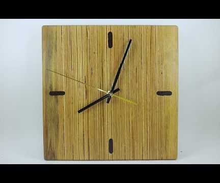 Square Wall Clock From Scrap Plywood