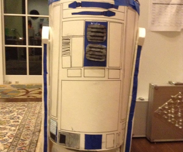 How to Make a Homemade R2-D2 Out of a Trash Can