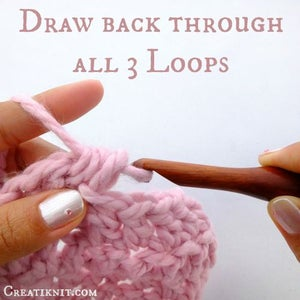 Draw Back Through the Last 3 Loops on Your Hook