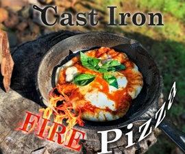 Perfect Cast Iron Campfire Pizza