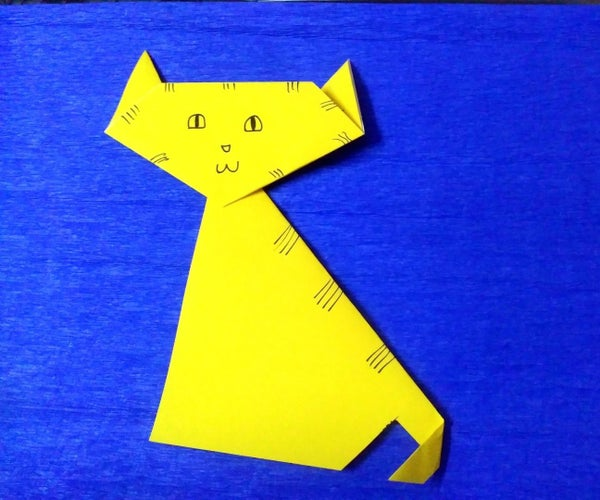 How to Make Paper Cat (Origami)