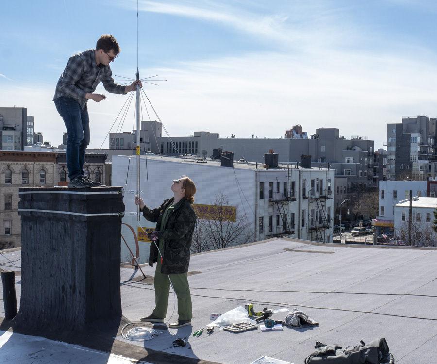Rooftop Ham Radio Antenna