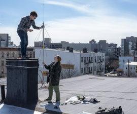 Urban Rooftop Ham Radio Antenna