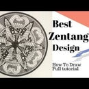 How to Draw Complex Zentangle Tutorial for Beginners