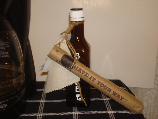 Coffee Beans in a Bottle (The Bottle Is the Gift Wrap.)
