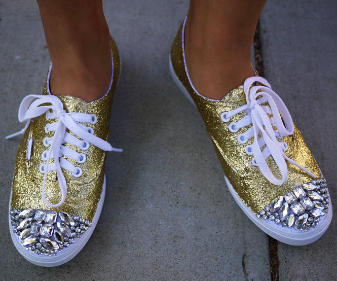 DIY Glittery Shoes