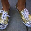 DIY Glittery Shoes