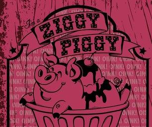 Ziggy Piggy Retro Ice Cream Graphic