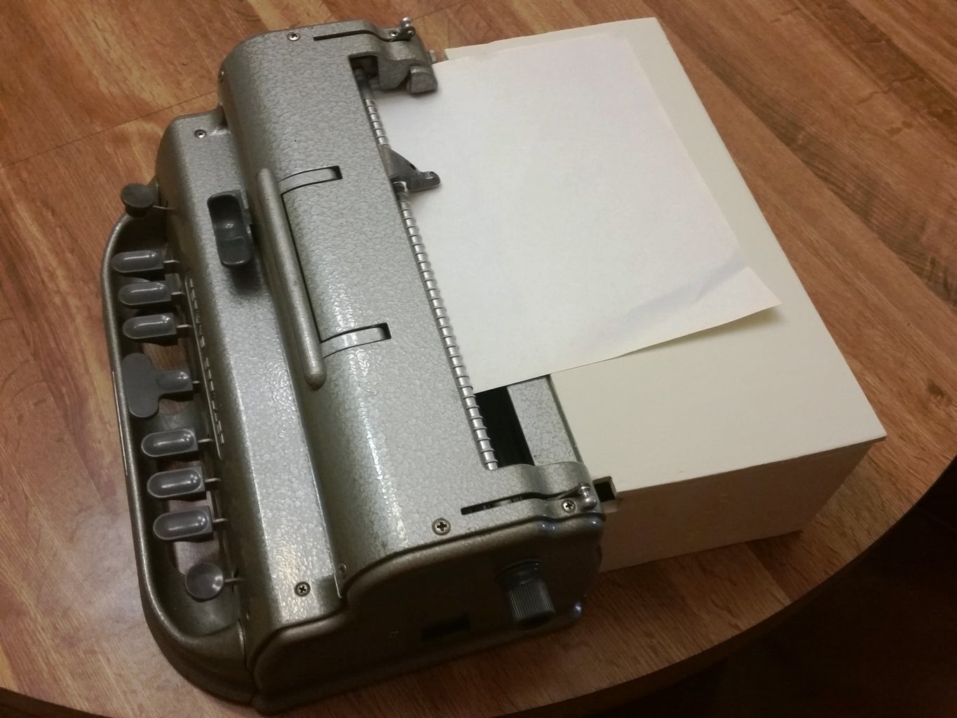 Support Table for Perkins Braille Writer